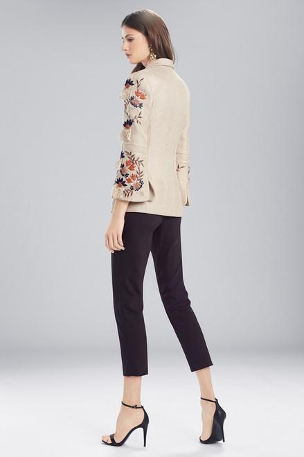 Josie Natori Straw Mixed Media Blazer Jacket at The Natori Company