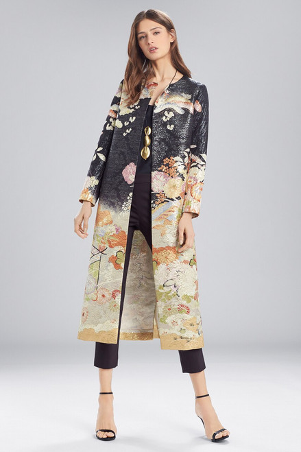 Buy Josie Natori Scenery Metallic Jacquard Long Topper from