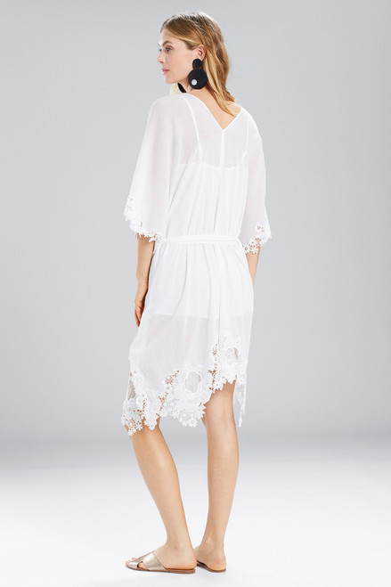Natori Lucia Caftan With Tie and Lace at The Natori Company