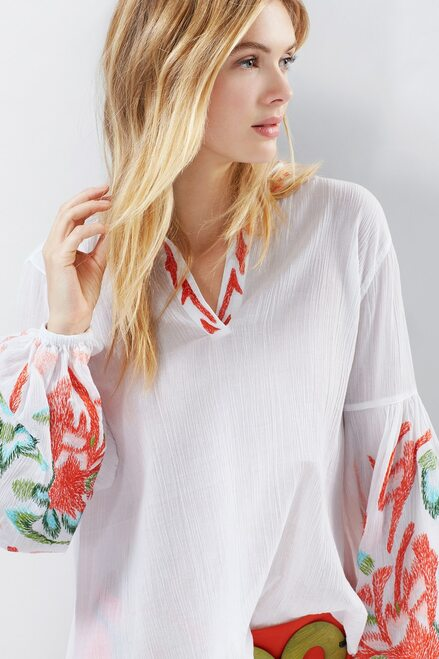 Natori Lucia Peasant Blouse Tunic at The Natori Company