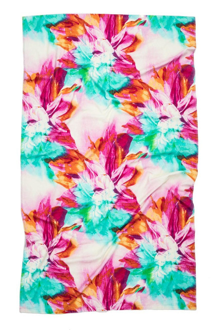 Natori Floral Beach Towel at The Natori Company