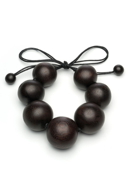 Buy Natori Acacia Wood Round Necklace from