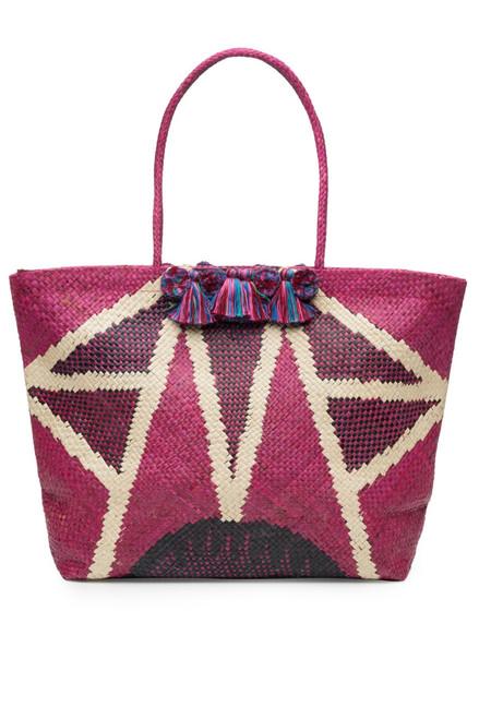 Natori Woven Handbag With Fringe at The Natori Company