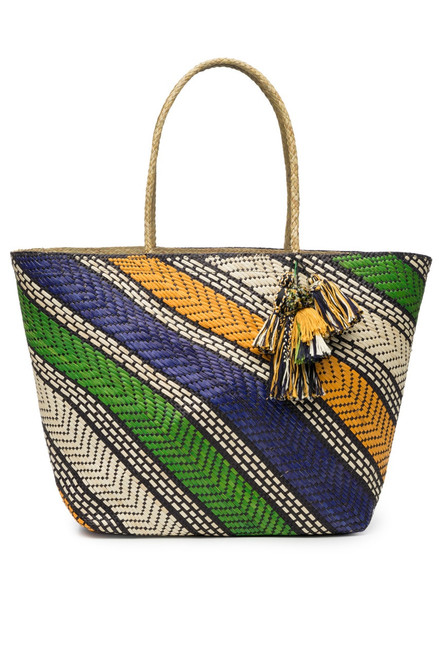 Buy Natori Woven Handbag With Tassels from
