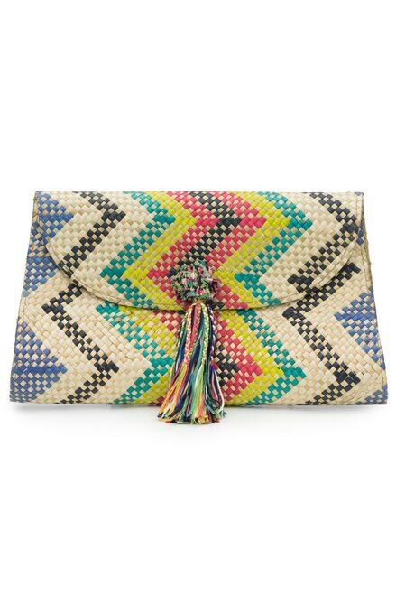 Natori Woven Chevron Print Clutch at The Natori Company