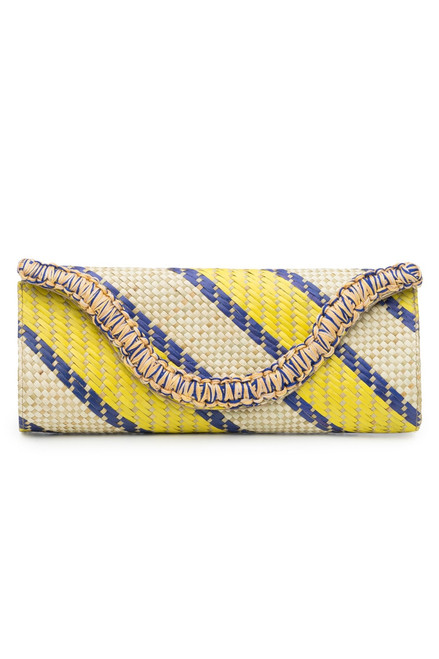Natori Woven Striped Print Clutch at The Natori Company