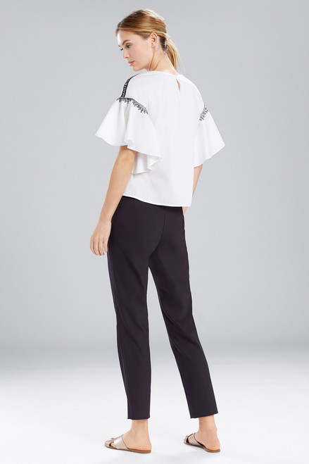 Natori Breeze Ruffle Sleeve Top at The Natori Company