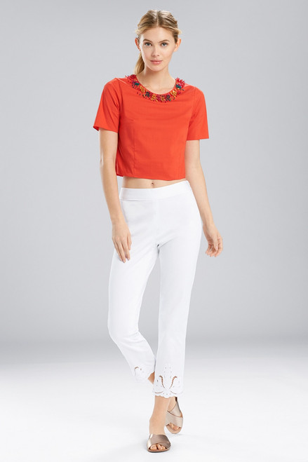 Natori Breeze T-Shirt Top With Beading at The Natori Company
