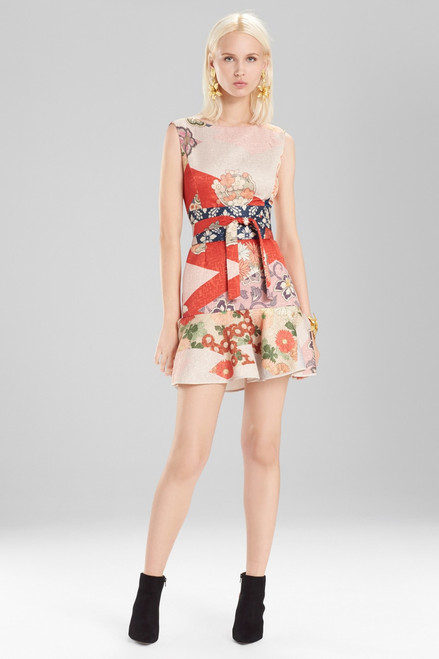 Buy Josie Natori Kimono Patchwork Ruffle Hem Dress from