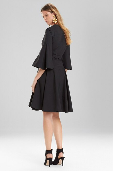 Josie Natori Cotton Poplin V-Neck Wrap Dress at The Natori Company