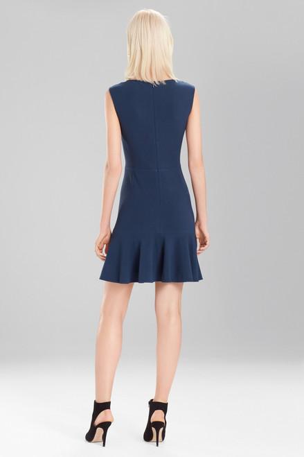 Josie Natori Knit Crepe Ruffle Hem Dress at The Natori Company