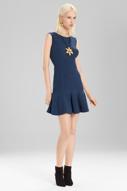 Buy Josie Natori Knit Crepe Ruffle Hem Dress from