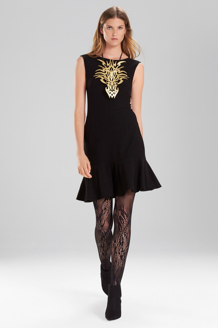 Buy Josie Natori Knit Crepe Ruffle Hem Dress from