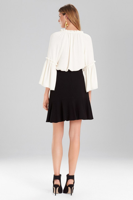 Josie Natori Solid Silky Soft Peasant Top at The Natori Company