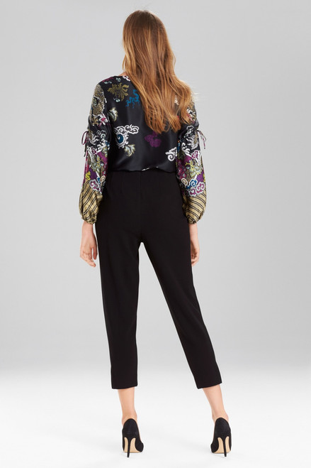 Josie Natori Knit Crepe Tapered Pants at The Natori Company