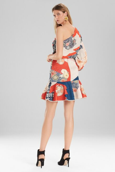 Josie Natori Kimono Patchwork Skirt at The Natori Company