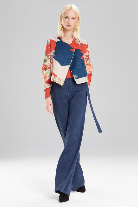Josie Natori Kimono Patchwork Crop Jacket at The Natori Company