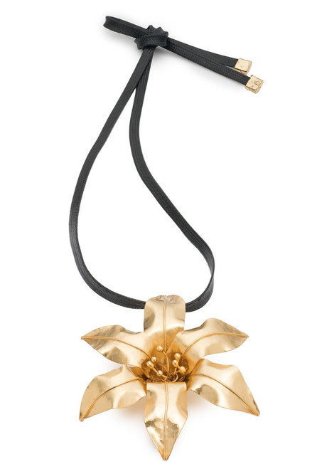 Buy Josie Natori Brass Floral Necklace from