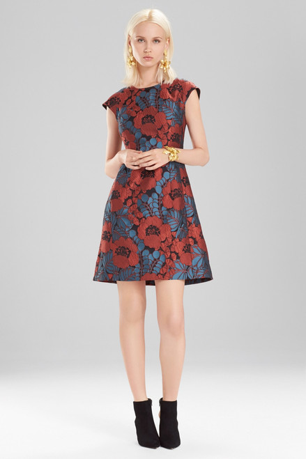 Josie Natori Novelty Jacquard Cap Sleeve Dress at The Natori Company