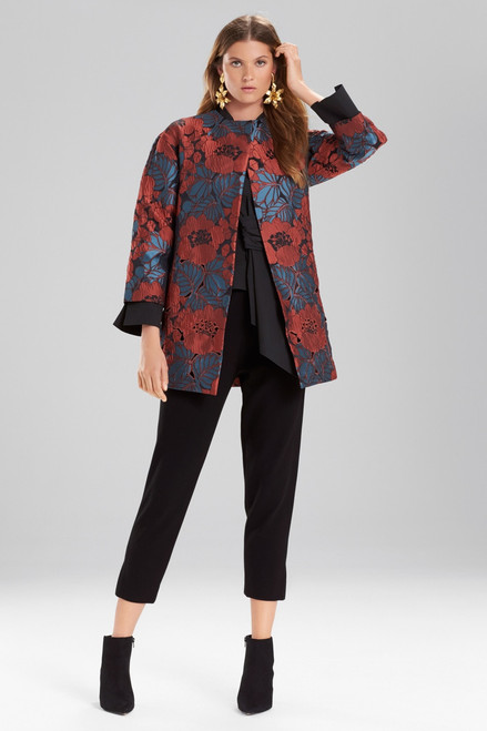 Josie Natori Novelty Jacquard Seamed Topper With Cutwork Embroidery at The Natori Company