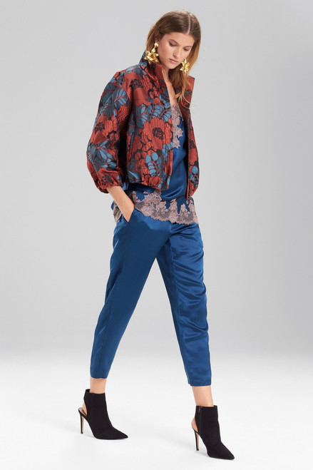Josie Natori Novelty Jacquard Elastic Bomber Jacket at The Natori Company
