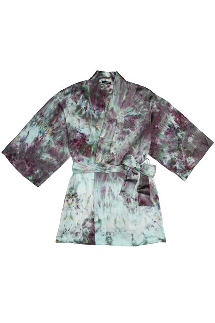 Josie Natori x Upstate Lolita Wrap - Purple Multi at The Natori Company
