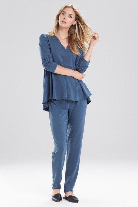 Natori Zen French Terry V-Neck Top at The Natori Company