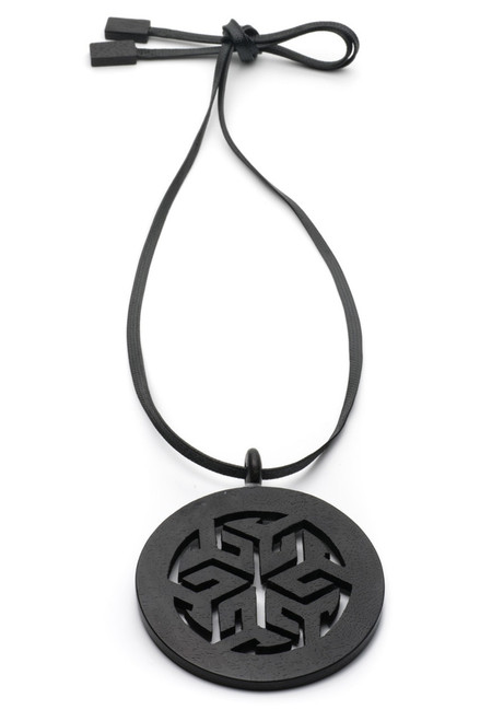 Josie Natori Horn Round Necklace at The Natori Company