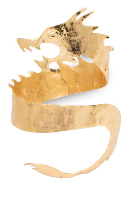 Buy Josie Natori Hammered Brass Dragon Cuff Bracelet from