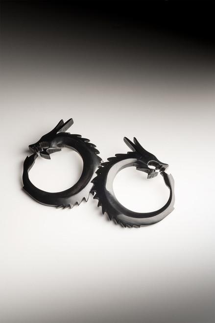 Josie Natori Horn Dragon Earrings at The Natori Company