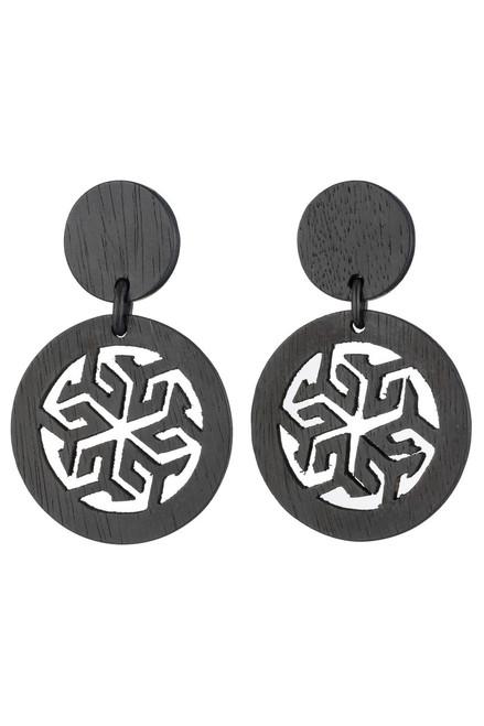 Buy Josie Natori Horn Round Drop Earrings from