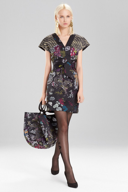 Josie Natori Dragon Jacquard Dress at The Natori Company