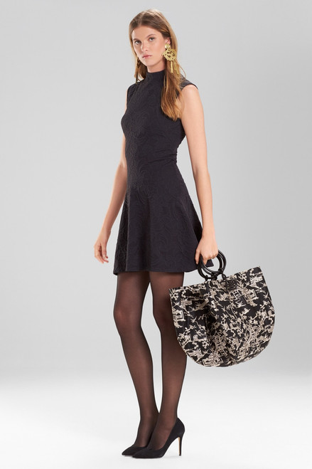Josie Natori Knit Jacquard Dress at The Natori Company