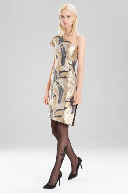 Josie Natori Metallic Jacquard Dress at The Natori Company