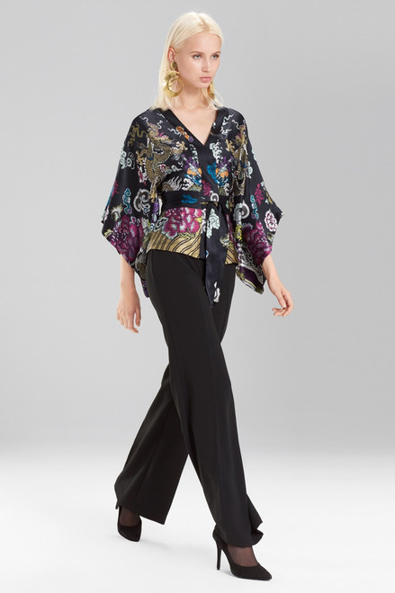Josie Natori Abstract Dragon Kimono Top at The Natori Company