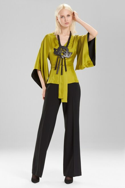 Buy Josie Natori Silk Kimono Sleeve Top from