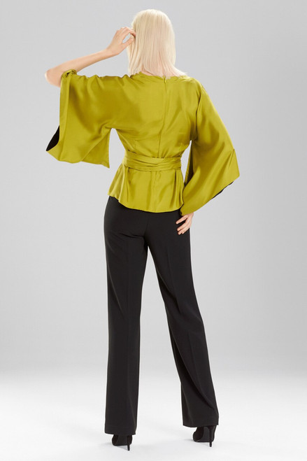 Josie Natori Silk Kimono Sleeve Top at The Natori Company