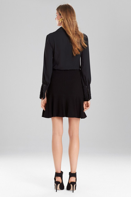 Josie Natori Solid Silky Soft Button-Down Top at The Natori Company