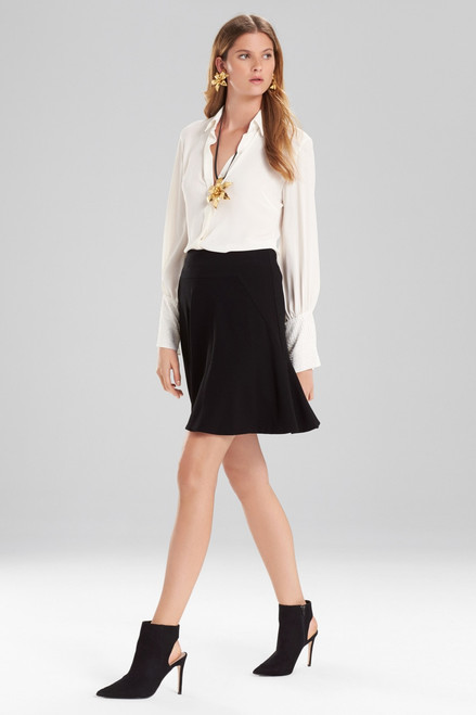 Buy Josie Natori Knit Crepe Ruffle Skirt from