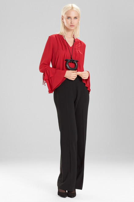 Josie Natori Core Crepe Pants at The Natori Company