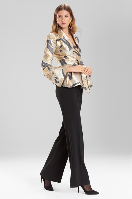 Buy Josie Natori Metallic Feather Jacquard Topper from