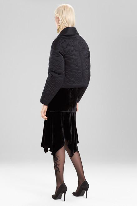 Josie Natori Duchess Satin Cropped Jacket at The Natori Company