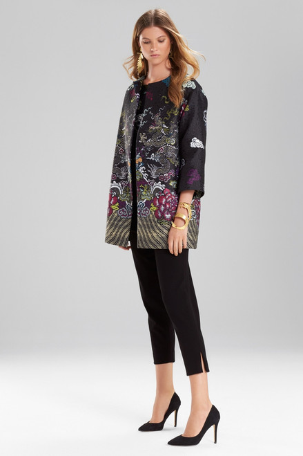 Josie Natori Dragon Jacquard Topper at The Natori Company