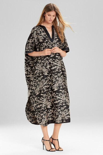 Josie Natori Pagoda Caftan at The Natori Company