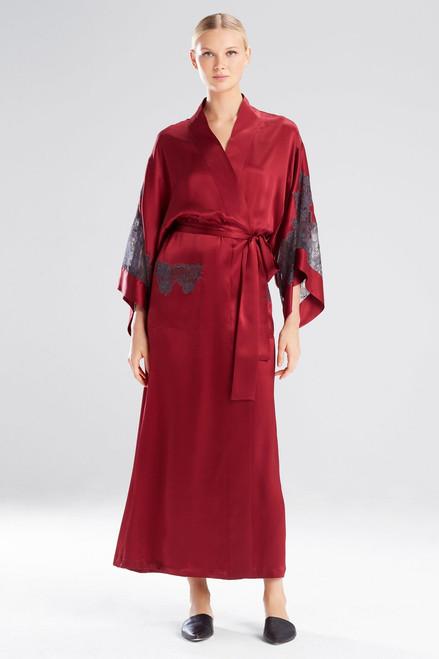 Josie Natori Lolita Long Robe With Lace at The Natori Company