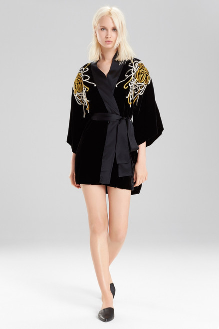 Josie Natori Luxe Velvet Wrap at The Natori Company