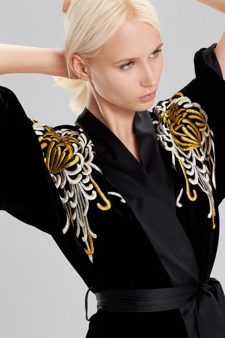 Josie Natori Luxe Velvet Wrap at The Natori Company