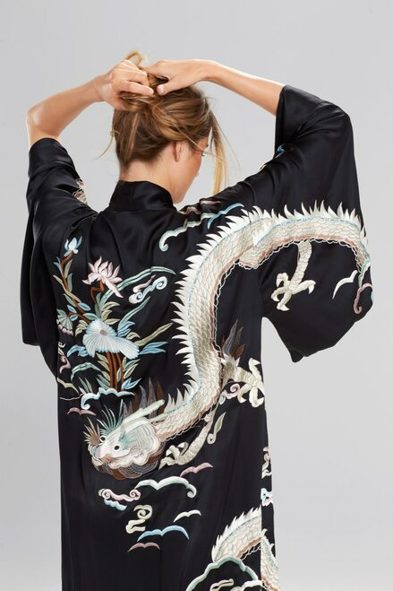 Josie Natori Novelty Dragon Robe at The Natori Company