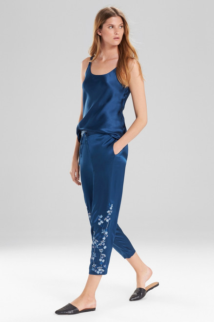 Josie Natori Cascading Floral Pants at The Natori Company