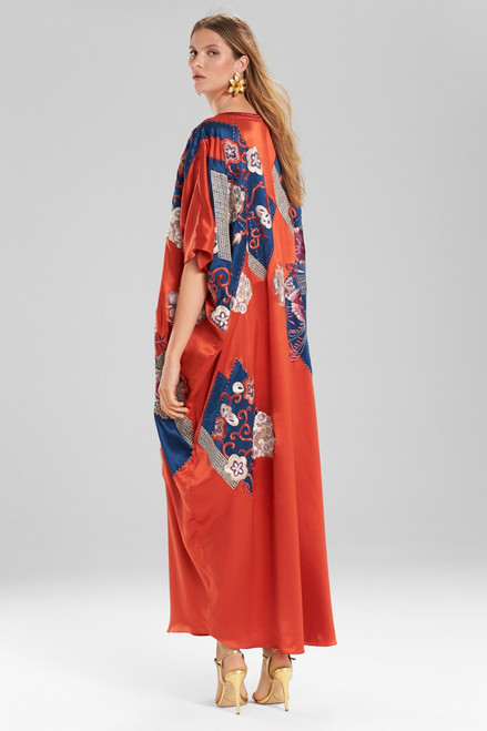 Josie Natori Couture Patchwork Caftan at The Natori Company